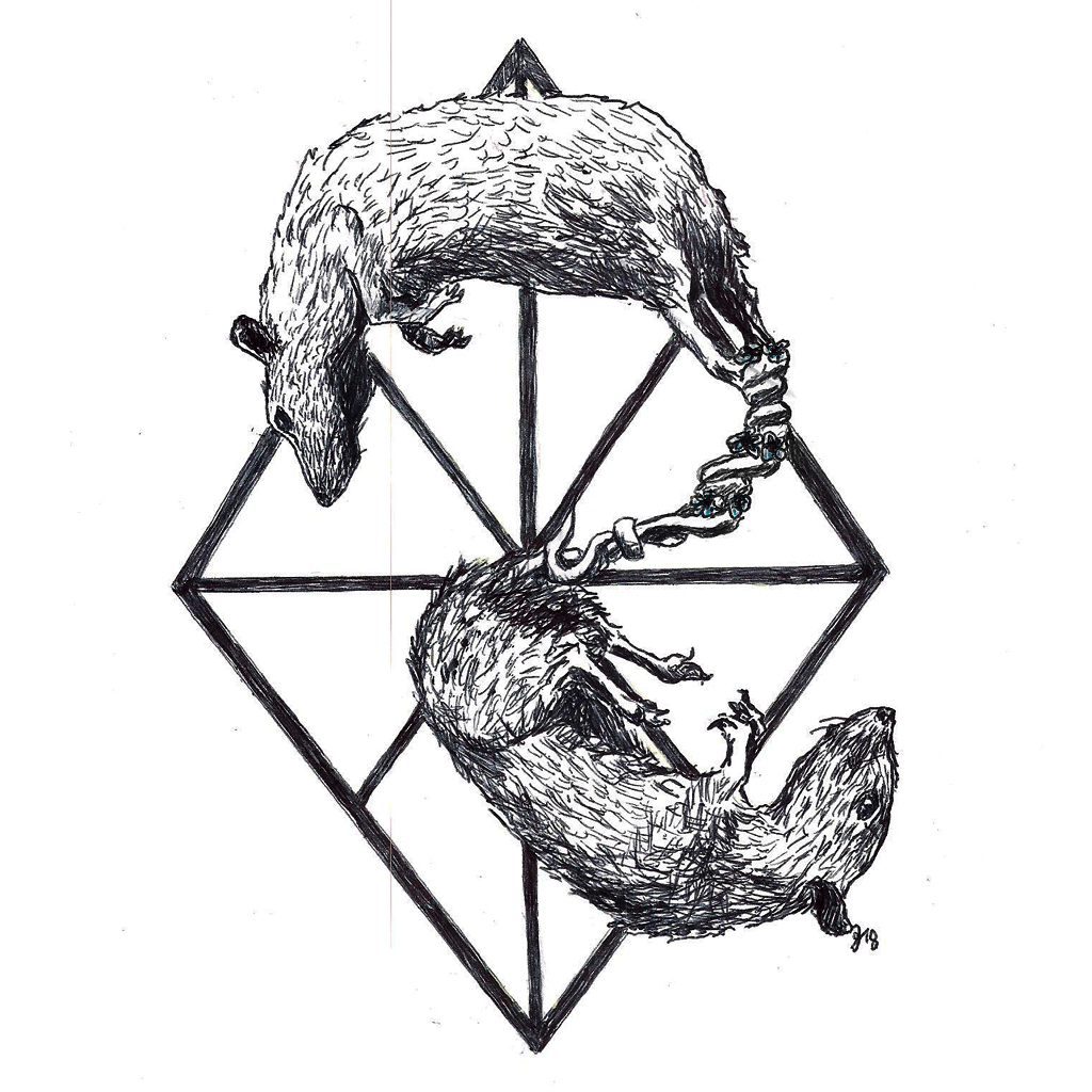 #ratking #kingofrats #grafik #graphic #tattoo #annegeorgius #corpusdelicti #principia.discordia #rattenkönig
