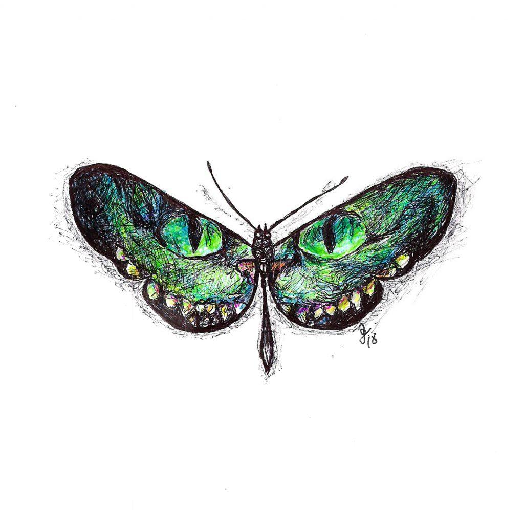 #dragonfly #level #chesirecat #grafik #graphic #tattoo #annegeorgius #corpusdelicti #principia.discordia