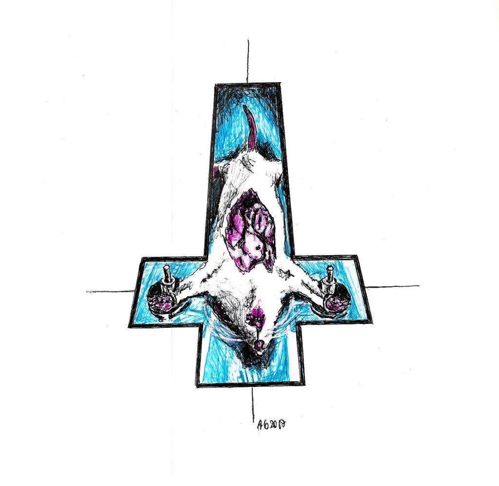 #crucified #rat #animaltesting #grafik #graphic #tattoo #annegeorgius #corpusdelicti #principia.discordia #tierexperiment #organs