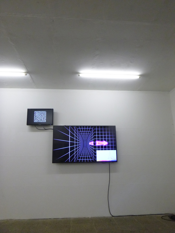 #diploma #hgb #hochschulefürgrafikundbuchkunst #diplom #medienkunst #installation #performance #klassefürinstallationundraum #mindcontrol #eeg #brainmachineinterface #bmi #gun #videogame