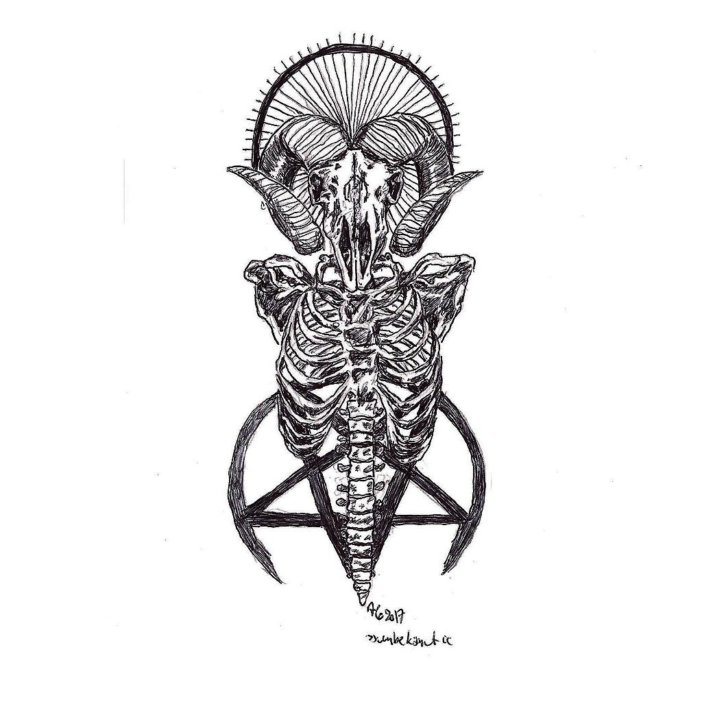 #baphomet #satanic #pentagram #grafik #graphic #tattoo #annegeorgius #corpusdelicti #principia.discordia