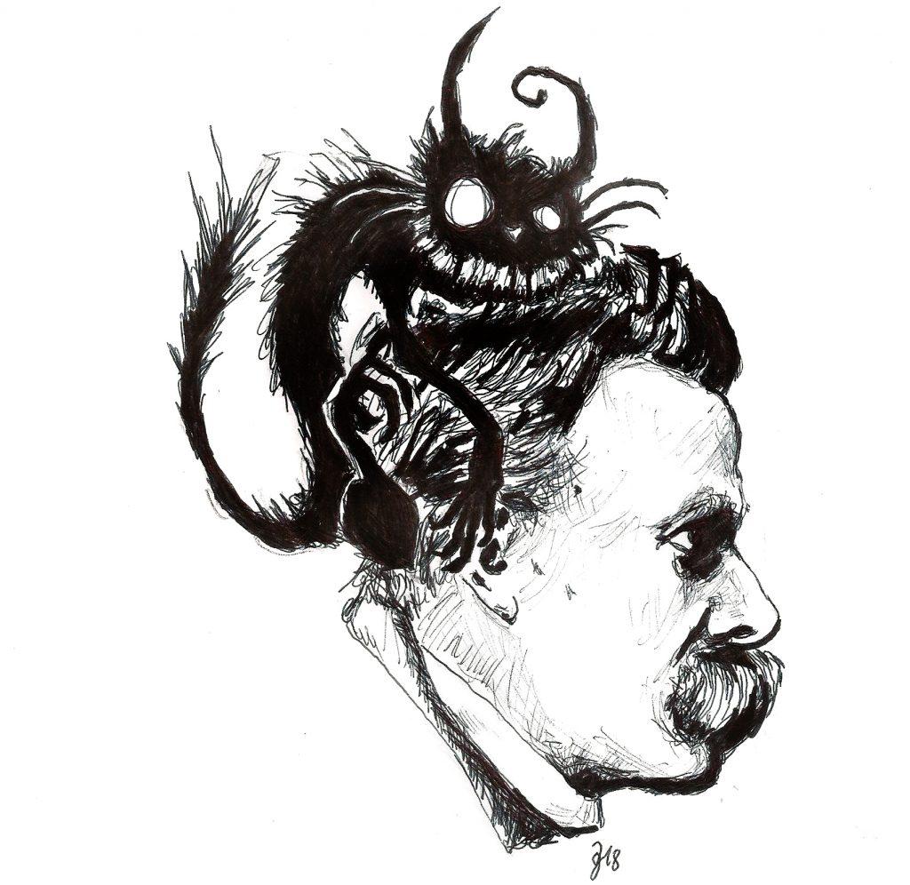 #nietzsche #nightmare #grafik #graphic #tattoo #annegeorgius #corpusdelicti #principia.discordia