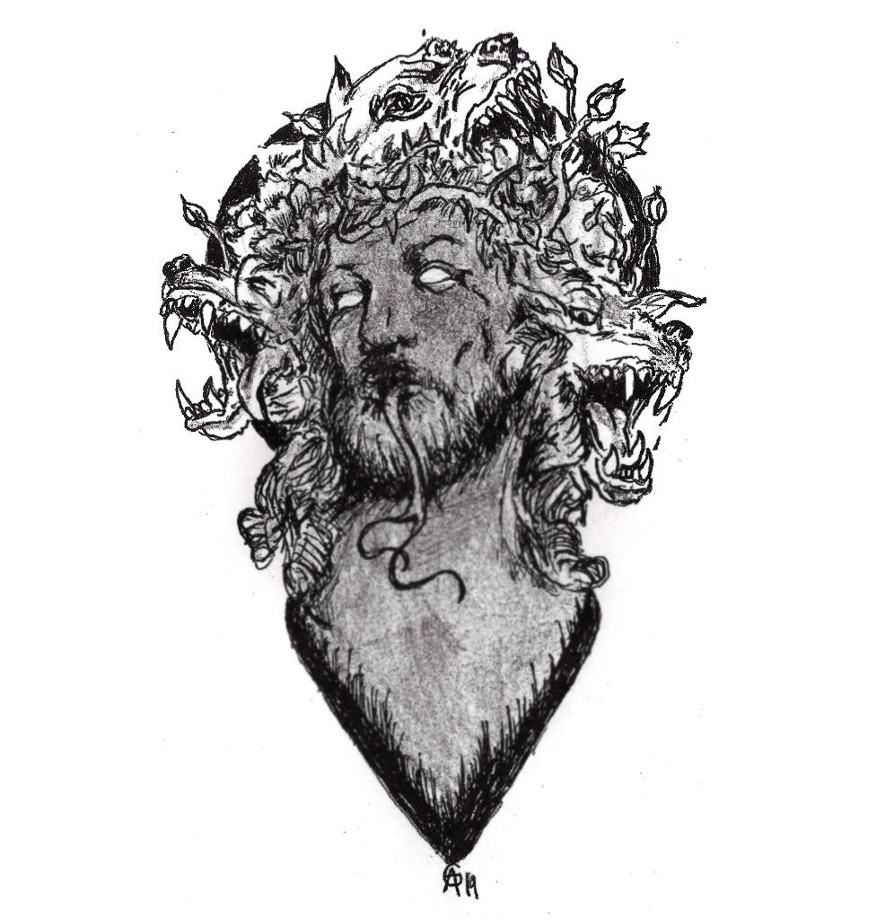 #anticrist #jesus #dogs #wilddogs #corona #aura #grafik #graphic #tattoo #annegeorgius #corpusdelicti #principia.discordia