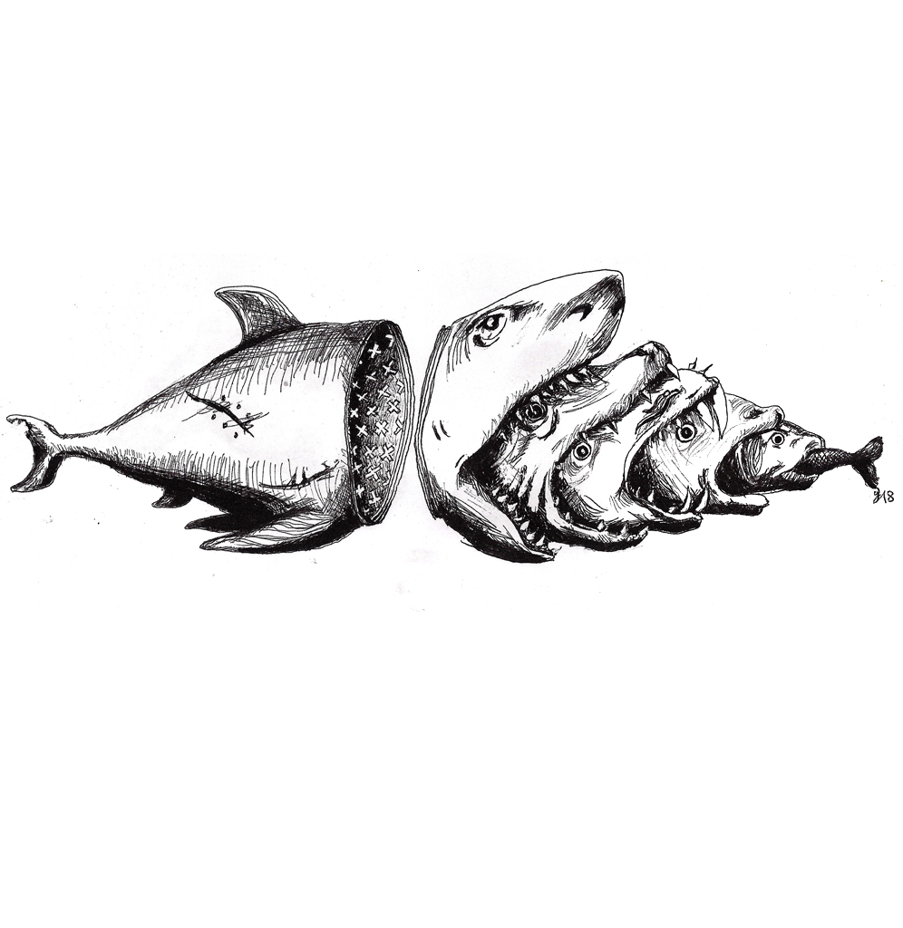 #fishes #fisch #fish #food #cut #grafik #graphic #tattoo #annegeorgius #corpusdelicti #principia.discordia