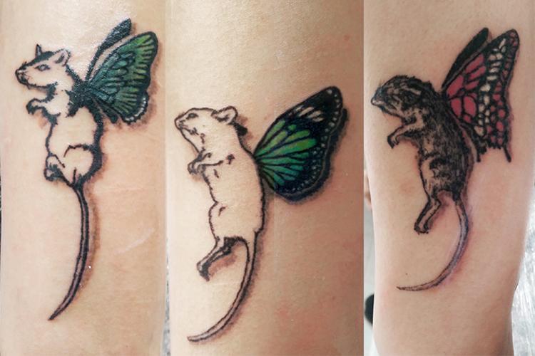 #mice #animalgenetics #wings #leipzigtattoo #tattooleipzig #bodyart #conceptualbodyart #tattoo #annegeorgius #corpusdelicti #arte.corpus.delicti