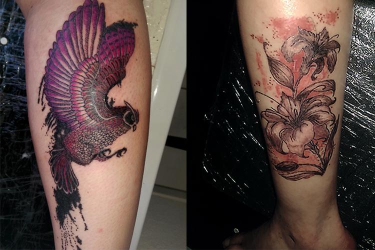 #owl #flyingowl #trashpolka #trashpolkatattoo #trashpolkaflowers #leipzigtattoo #tattooleipzig #bodyart #conceptualbodyart #tattoo #annegeorgius #corpusdelicti #arte.corpus.delicti